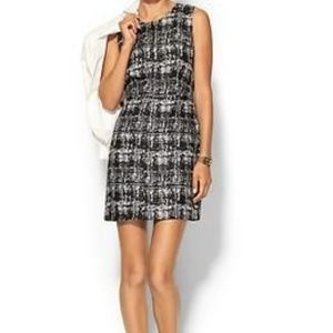 Sale! Pim + Larkin Split Neck Shift Tweed Dress